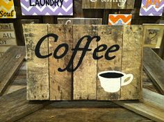 Very Rustic Coffee Shop Sign by WeatheredWays on Etsy Like our Facebook page! https://www.facebook.com/pages/Rustic-Farmhouse-Decor/636679889706127