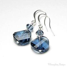 Country Blue Denim Swarovski Crystal by whimsydaisydesigns on Etsy, $22.00