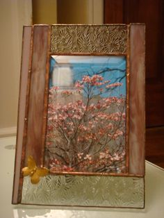 Handmade Stained Glass Picture Frame 4x6 by TrimalchioArts on Etsy, $35.00