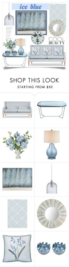 """""""Ice Blue"""" by hastypudding ❤ liked on Polyvore featuring interior, interiors, interior design, home, home decor, interior decorating, Debra Folz, ELK Lighting, Pier 1 Imports and Dash & Albert"""
