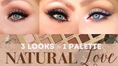 TOO FACED NATURAL LOVE EYESHADOW PALETTE TUTORIAL | 3 LOOKS FROM 1 PALETTE | SMOKEY EYE | EVERYDAY NEUTRAL SHADOWS | PINK CHAMPAGNE CUT CREASE | EYE LOOKS | HOW TO | @CRYSTALHOYTBEAUTY
