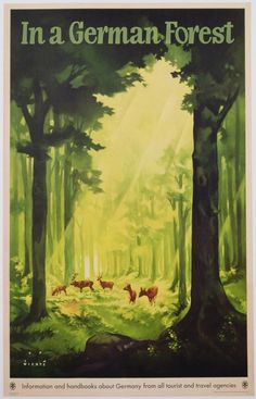 In a German Forest', Poster Advertising Tourism in Germany, C.1935 (Colour…