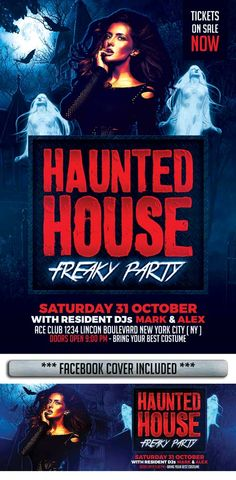 Haunted House Flyer Template…