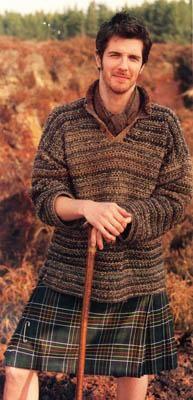 kilt and sweater
