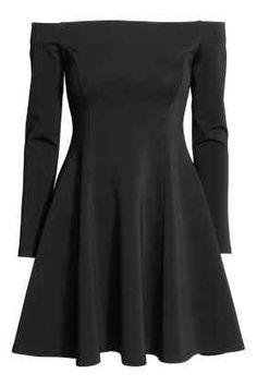 H&M Vestido de ombros descobertos