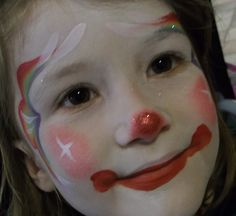 Little Rainbow Clown Face Painting Jacksonville FL Linda Schrenk