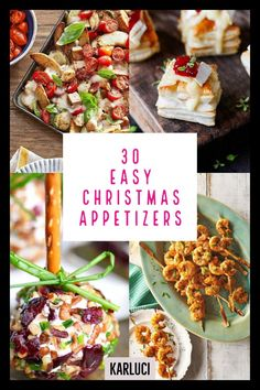 30 Easy Christmas Appetizers - Best Holiday Appetizer Recipes - Karluci 30 Easy delicious Christmas appetizers will be the perfect way to to kick off your Christmas dinner or holiday party. Best Appetizer Recipes, Appetizers For Party, Party Snacks, Gourmet Appetizers, Recipes Dinner, Healthy Recipes, Holiday Appetizers Christmas Parties, Light Appetizers, Christmas Cooking