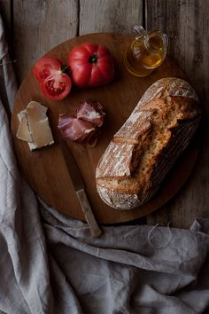 Pan sin amasado | ECOHAPPYANDHIPPIE Pan Dulce, Pan Bread, Dessert Bread, Sin Gluten, Clean Recipes, Food Design, Healthy Desserts, Baked Goods, Tapas