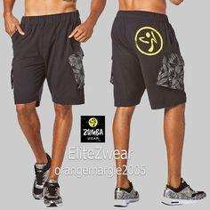 ZUMBA Men's Dancing Warrior Cargo Shorts EliteZWear - Functional & Fab M, L, XL  #ZumbaZumbaFitnessStrong #MensCargoShorts