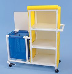 front stand up/sit down space for toddler, top part redesigned to hold baby and grocery space beneath? Pvc Pipe Furniture, Home Decor Furniture, Diy Home Decor, Furniture Design, Pvc Pipe Crafts, Pvc Pipe Projects, Home Projects, Diy Kitchen Storage, Home Organization