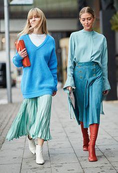 Jeanette Friis Madsen and Emili Sindlev at Stockholm Fashion Week Autumn Winter 2018