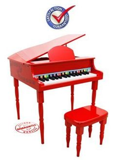 Red 30 Keys Grand Baby Toy Piano KGP-RD by Crescent. $109.95. Red 30 Keys Grand Baby Toy Piano KGP-RD. This unique miniature version is designed to encourage the very young to play and develop a love of music. Chromatically tuned with 30 Keys producing lovely tones. The piano never gets out of tune and the tone never changes. This toy Grand Piano is elegantly designed yet durable and sturdy. With a beautiful design and education function this children Baby Grand Piano is a must...