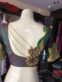 Customize your We provide services for customizing women ethnic wear. For Order Join our WhatsApp Blouse Back Neck Designs, Blouse Designs Silk, Designer Blouse Patterns, Bridal Blouse Designs, Patch Work Blouse Designs, Saree Jacket Designs, Stylish Blouse Design, Saree Blouse, Anarkali