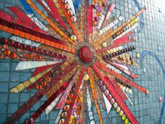 Sunburst Mosaic by mosaic artist Dyanne Williams