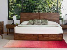 Mi cama!Baxter Base con Dos Cajones Contemporánea King Size Café