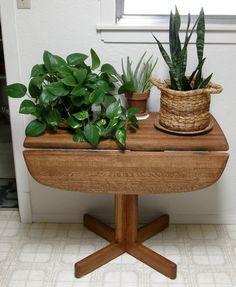 Restored Oak Blockwood Drop Leaf Table 1 of 4
