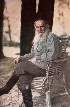 Leo Tolstoy by Sergei Prokudin-Gorskii, around 1908