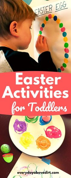 Easter activities for toddlers that are perfect for toddlers and preschool age kids. A great way to celebrate Easter while having fun and learning. activities for toddlers Toddlers And Preschoolers, Easter Activities For Toddlers, Infant Activities, Activities For Kids, Spring Activities, Learning Activities, Baby Crafts, Toddler Crafts, Kids Crafts