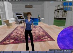 Alexandria Knight (Esther Grassian) in UCLA Library in SL 18 Sep 2009