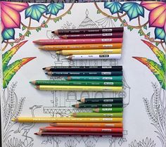 I'm trying out something new, would anyone find this helpful? From top to bottom, first set of pencils is for the pink/yellow leaves. The second set is for the blue/green leaves. The third set is for the green/red leaves. #johannabasford #magicaljungle #magicaljunglecoloringbook #마법의정글 #gellyroll #selvamagica #раскраска #раскраскадлявзрослых #enchantedforestcoloringbook #prismacolor #colorful #colortherapy #coloring #adultcoloringbook #coloringtherapy #gellyroll #джунгли #зачерованныйлес…