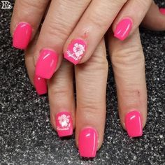 NAIL ART DESIGNS 2018 2019 In today's fashion conscious world, women are extremely cautious about how they look and they provide special Nail Art Designs, Flower Nail Designs, Flower Nail Art, Simple Nail Designs, Hawaiian Nail Art, Hawaiian Flower Nails, Cute Nail Art, Cute Nails, Gel Nails