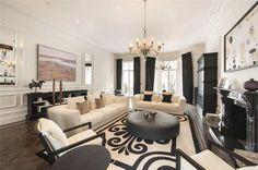 black and white living room #plush