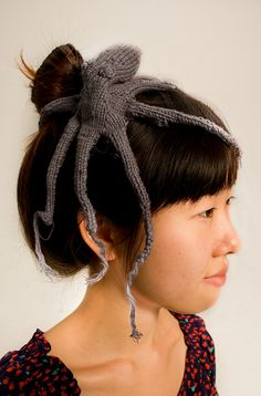 Knit octopus by Ol' Buddy of Mine, via Flickr  Baby Air Kraken can be an unexpected hazard.