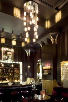 The Fumoir Bar - Design by Thierry Desont - Claridge's Hotel, Mayfair, London
