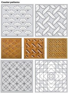 Coasters - Chip Carving Patterns - Wood Carving
