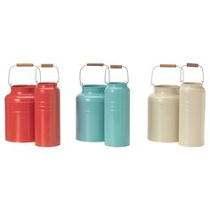 IKEA: Socker Vase, set of 2 for $13 in red, aqua or creamy tan...LOOOVE these!