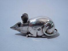 English Sterling Silver Mouse Match Strike, 2000 - London.
