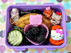 Lunch packed by my preschooler ~ Becoming A Bentoholic #HelloKitty