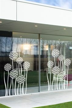 I just discovered some really cool wall art It& do-it-yourself wall decals for kids and adults. Window Art, Window Film, Kitchen Sliding Doors, Kids Wall Decals, Vinyl Decals, Office Graphics, Cool Wall Art, Floor Design, Glass Etching