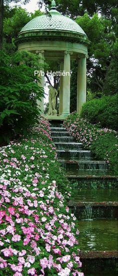 Stairs And Doors, Back Gardens, Dream Garden, Love Flowers, Gates, Monaco, Mother Nature, Versace, Window