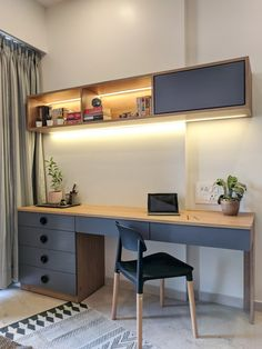 'Work from home' is the current mantra across a large part of the world. So today we have simple steps to help you achieve an organised home office. Study Table Designs, Office Table Design, Home Office Table, Study Room Design, Study Room Decor, Home Room Design, Office Interior Design, Home Office Decor, Office Desk