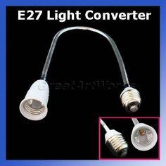 50cm-Flexible-E27-bis-E27-Lampe-Leuchte-Verlaengerung-Buchse-Adapter-Converter