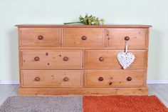 £225 Large pine chest with 7 drawers quality made throughout waxed finish - see all our up to date furniture at -  http://www.sussexpineonline.co.uk/