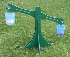 Children's outdoor balance scale