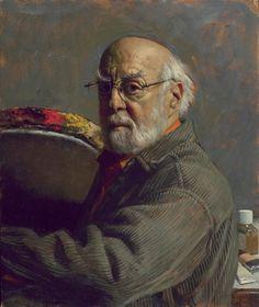 Antiques Dealer Oil Portrait Painting Studio Canvas Pastel Portraits