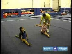 ▶ Gymnastics & Tumbling Lessons for Beginners : How to Do the Splits for Beginner Gymnasts - YouTube