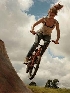 A girl with BMX