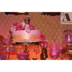 #sweet16 #chandelier #chandeliertheme #pink #gold #sparkle #glam #formal #intimate #aevent #candybuffet #sweetstudio #candy #bizcocho #owl