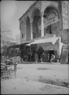 1912 ~ Monastiraki, Athens Attica Athens, Athens City, Athens Greece, Greece Pictures, Old Pictures, Old Photos, Vintage Photos, Athens History, Greek History