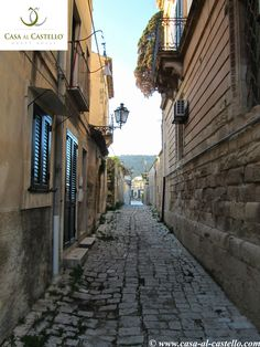 A typical alley of Scicli, Sicily - ITALY