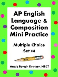 english language composition ap exam essays Ap english language and composition exam: guide for essays [james mulhern] on amazoncom free shipping on qualifying offers this guide for the ap english language and composition exam provides valuable specific, concrete directions for writing each of the three essays—the synthesis.
