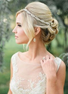 Updo with Glitzy Hairband