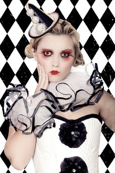 Pierrot Corset harlequin clown costume by LaPetiteMenagerie, $400.00
