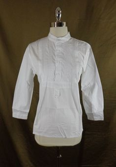 NWD Women's Scully White Cotton Old West-Victorian Steampunk Shirt-XL-Flawed #Scully #TopsShirts