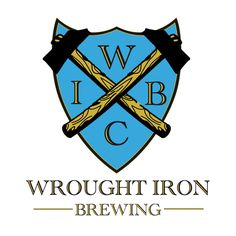 Logo design for the brewery Wrought Iron Brewery.