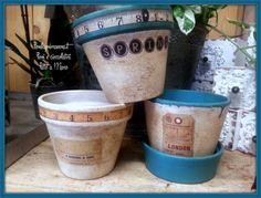 Vasi di coccio decorati a mano www.fiorilaprimavera.it